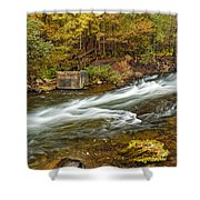 Take Me To The Other Side Beaver's Bend Broken Bow Lake Flowing River Fall Foliage Shower Curtain