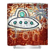 Take Me To Your Leader Shower Curtain by Scott Pellegrin