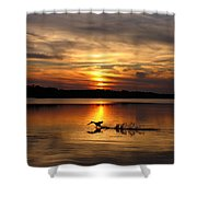 Take Off Forge Pond Shower Curtain