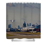 Take Off From London Shower Curtain