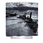 Taken By The Sea Shower Curtain