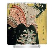 Takigawa From The Tea House Ogi Shower Curtain