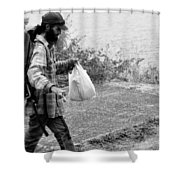 Taking My Pet For A Walk Shower Curtain