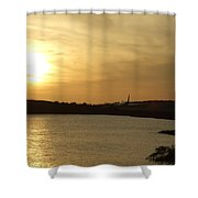 Taking Off Into The Sunset Shower Curtain