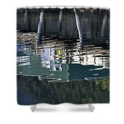 Taku Smokeries Reflected Shower Curtain