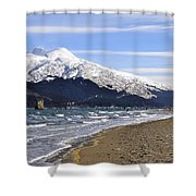Taku Winds Shower Curtain