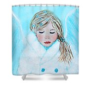 Talini Little Snow Angel Bringing Warmth On Cold Days Shower Curtain