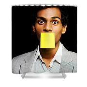 Talkative Forgetful Office Worker Shower Curtain