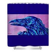 Talking Raven Shower Curtain