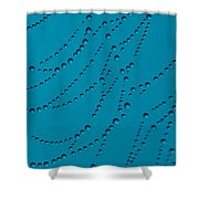 Tall Blue Abstract Shower Curtain