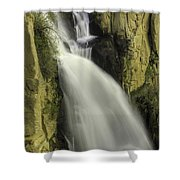 Tall Canyon Waterfalls Shower Curtain