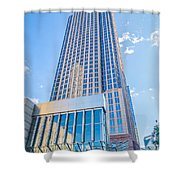 Tall Highrise Buildings In Uptown Charlotte Near Blumental Perfo Shower Curtain
