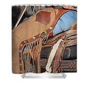 Tall In The Saddle II Shower Curtain