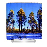 Tall Ponderosa Pine Shower Curtain