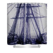 Tall Ship 2 Shower Curtain
