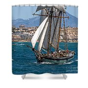 Tall Ship Alicante Shower Curtain