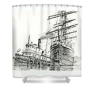 Tall Ship Assist Shower Curtain