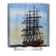 Tall Ship Beauty Shower Curtain