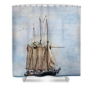Tall Ship Denis Sullivan Shower Curtain