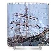 Tall Ship Elissa - Galveston Texas Shower Curtain
