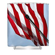 Tall Ship Flag Shower Curtain