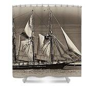 Tall Ship II Shower Curtain