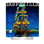 Tall Ship Jose Gasparilla Shower Curtain