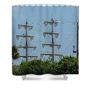 Tall Ship Mast Charleston  Shower Curtain