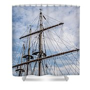 Tall Ship Masts Shower Curtain