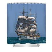 Tall Ship Mircea Shower Curtain