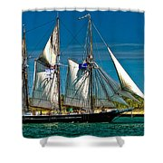 Tall Ship Shower Curtain