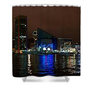 Tall Ships At Night Panorama Set Panel 2 Shower Curtain