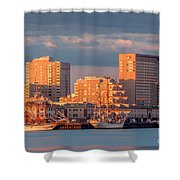 Tall Ships At The Seaport Shower Curtain