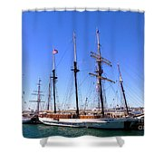 Tall Ships Big Bay Shower Curtain