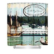 Tall Ships On The Sound Shower Curtain