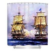 Tall Ships Uss Essex Captures Hms Alert  Shower Curtain