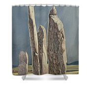 Tall Stones Of Callanish Isle Of Lewis Shower Curtain