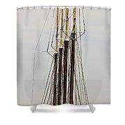 Tall Tall Ship Shower Curtain
