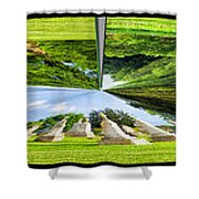 Tall Tombstones Polar View Shower Curtain