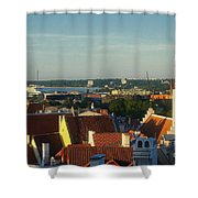 Tallinn Old Town 3 Shower Curtain