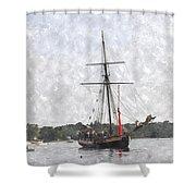 Tallship Providence Prwc Shower Curtain