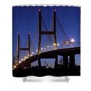 Talmadge Memorial Bridge Savannah Shower Curtain