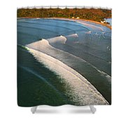 Tamarin Bay Surf Going Off Shower Curtain