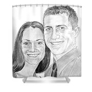 Tamir And Sarah Shower Curtain