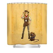 Tammy And Alfred Shower Curtain