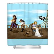 Tammy And The Pirates Shower Curtain