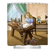Tammy The Little Doll Girl  Shower Curtain