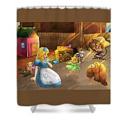 Tammy And Friends In The Backyard Shower Curtain