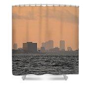 Tampa At Sunrise Shower Curtain