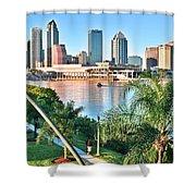 Tampa Bay Florida Shower Curtain